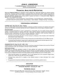 Free Good CV for Financial Analyst and Reporting with Professional       resume financial happytom co