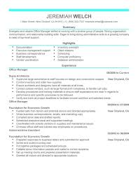 Sample Resume Of Office Administrator by Office Manager Resume Template Administrative Assistant Resume