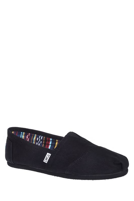 TOMS 001001A07 Classic Slip On Shoes Black/Navy/Red/Ash/Black On Black (13 D(M) US Men, Black On Black)