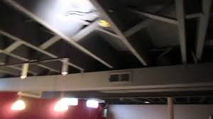 Black Ceiling Basement by Paint Basment Ceiling Black 2 Youtube
