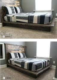 How To Build A Full Size Platform Bed With Drawers by 21 Diy Bed Frame Projects U2013 Sleep In Style And Comfort Diy U0026 Crafts
