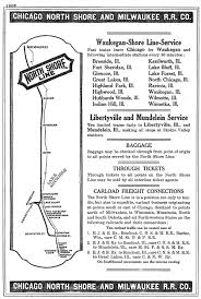 Chicago Line Map by The Chicago North Shore U0026 Milwaukee Railroad