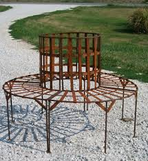 Outdoor Seating by Wrought Iron Tree Park Bench Outdoor Seating