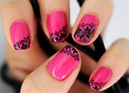 pink rose nail design 1000 ideas about pink nail designs on
