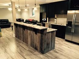 reclaimed barn wood kitchen island