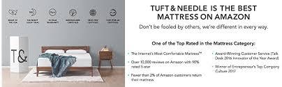 purple bed amazon black friday amazon com tuft u0026 needle mattress queen mattress with t u0026n