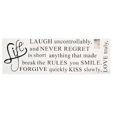 life is short words removable wall sticker murals home room decor life is short words removable wall sticker murals