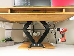 Computer Desk For Car by Height Adjustable Standing Desk Youtube