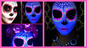 dead makeup halloween sugar skull day of the dead makeup black light halloween glow