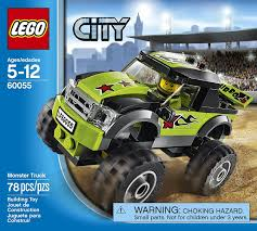 monster trucks cool video amazon com lego city great vehicles 60055 monster truck toys u0026 games
