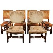 antique italian dining room set with table chairs buffet