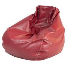bean bag chair red leather designer8