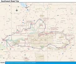 Route 66 Arizona Map by 14 Day Best Of The Southwest Road Trip Moon Travel Guides