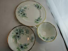 royal albert fine bone china marguerite blue daisy trio set