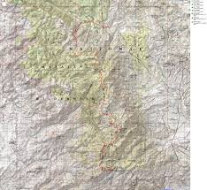Payson Arizona Map by Ambling Arizona Trail Mazatzal Divide Arizona Trail Passages 23