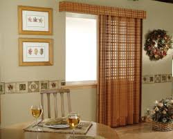 interior decorative wooden window valances with bamboo blind and