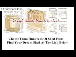 free 10x12 shed plans and materials list youtube