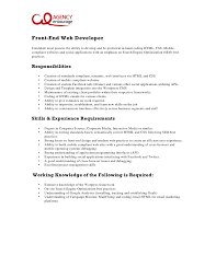 Best Java Developer Resume by Web Developer Job Description It Cv Template Cv Library