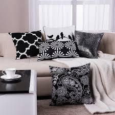 cheap decorative pillows for sofa aliexpress com buy black pillow geometric cushions decorative