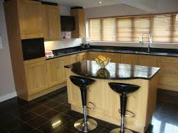 narrow kitchen island with breakfast bar plus black adjustable