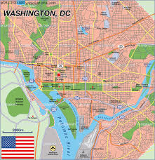 Washington Dc Usa Map by Map Of Washington Dc United States Map In The Atlas Of The