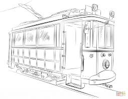 trolley car coloring page free printable coloring pages
