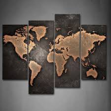 World Map Canvas by Amazon Com General World Map Black Background Wall Art Painting