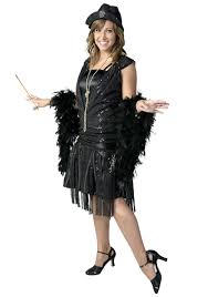 1920 Halloween Costumes Size Black Jazz Flapper Costume