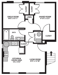 3 Bedroom Apartment Floor Plan Byu On Campus Housing