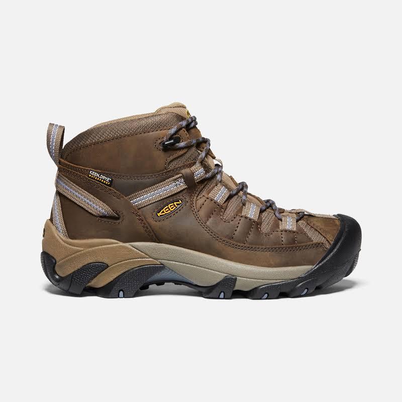 KEEN Targhee II Mid Waterproof Hiking Boots Slate Black/Flint Stone 8.5 US 1004114-200-8.5