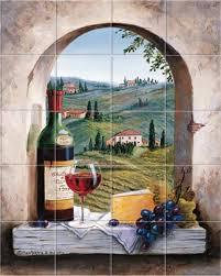 Kitchen Backsplash Mural Stone by Italian Dreaming Of Tuscany Kitchen Tile Backsplashes Murals