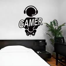 2017 wall sticker decal children room gaming gamer joystick video put them on your walls doors windows anywhere you want 4 much faster cleaner and easier than painting 5 use various decals and colors to create a
