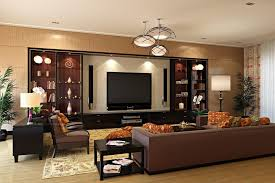 brown sofas on the brown floor inside interior designers homes