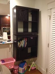 Hanging Bookshelves Ikea by How To Mount A Safe Floating 2 X 4 Expedit Shelf Ikea Hackers