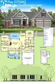 best floor plans ideas pinterest home house architectural designs craftsman house plan has open concept floor and bonus room