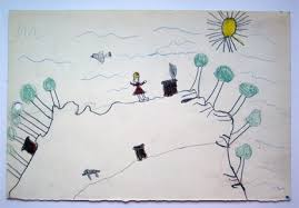 Jean Piaget and the Child     s Spontaneous Geometry   Max Planck     Max Planck Institute for the History of Science    Child     s drawing of a landscape from one of Piaget     s experiments on the development of the horizontal and vertical axes  from his investigation of the