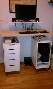 another nice ikea hack standing desk using capita brackets and