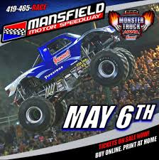 monster truck shows in michigan mansfield ohio mansfield motor speedway monster truck monster