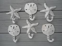 Outdoor Nautical Decor by Sand Dollar Hooks Starfish Beach Home Decor Nautical Beach