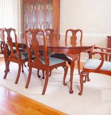 Henkel Harris Dining Room Henkel Harris Cherry Dining Table And Chairs In Queen Anne Style