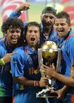 icc cricket news: Fake world cup trophy case