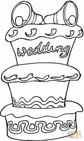 huge cake for wedding coloring page free printable coloring pages