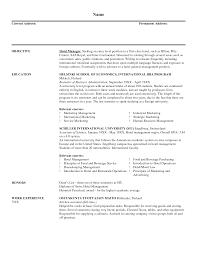 General Sample Resume Sample Resume General Manager Hotel Templates