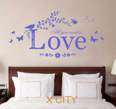 online get cheap wall stencils quotes aliexpress com alibaba group all you need is love quote vinyl wall decal art decor sticker bedroom stencil mural s m l