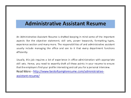 Administrative Assistant Resume Objective Examples by Administrative Assistant Resume Skills Template Examples