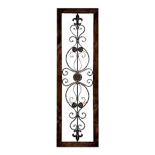 shop woodland imports 18 in w x 62 in h framed metal wall plaque