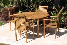 Outdoor Furniture Teak Sale by Sale 48in Round Table U0026 4 Atlantic Chair Teak Set Oceanic Teak