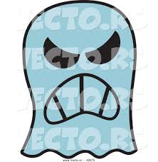 vector of a mad cartoon halloween ghost by zooco 42975