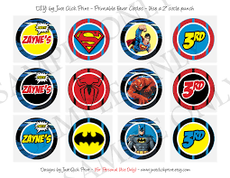 superheroes logos batman superman spiderman birthday invitation