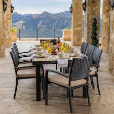 portofino 9 piece dining set in espresso